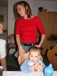 Lara und Mama Fay