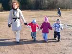 Spaziergang mit den Kindern